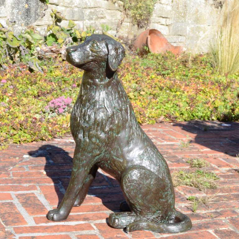 DOG 56CM ALUMINIUM DARK VERDIGRIS OUTDOOR2