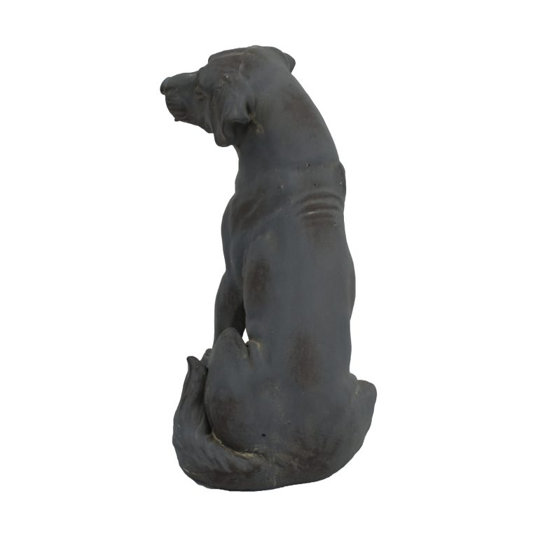 DOG SITTING 43CM BLUE IRON EFFECT BACK