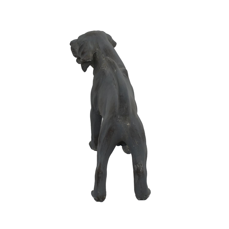 DOG STANDING 34CM BLUE IRON EFFECT BACK