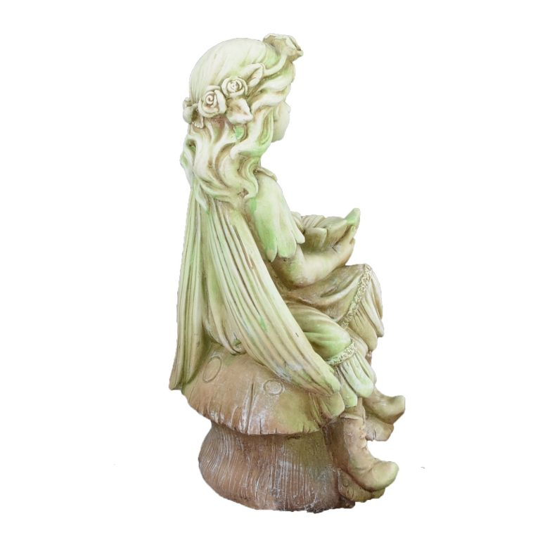 FLOWER FAIRY SITTING 56CM TINTED STONE EFFECT RIGHT