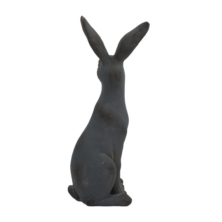HARE SITTING 61CM BLUE IRON EFFECT RIGHT