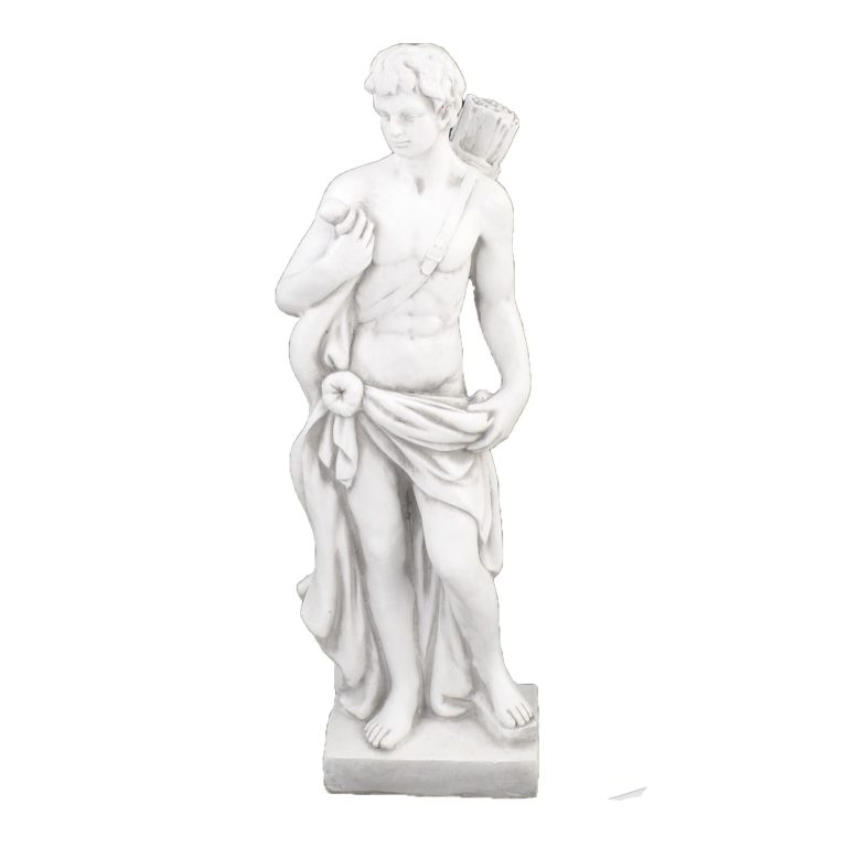 HECTOR HUNTER BOY 83CM WHITE STONE EFFECT FRONT