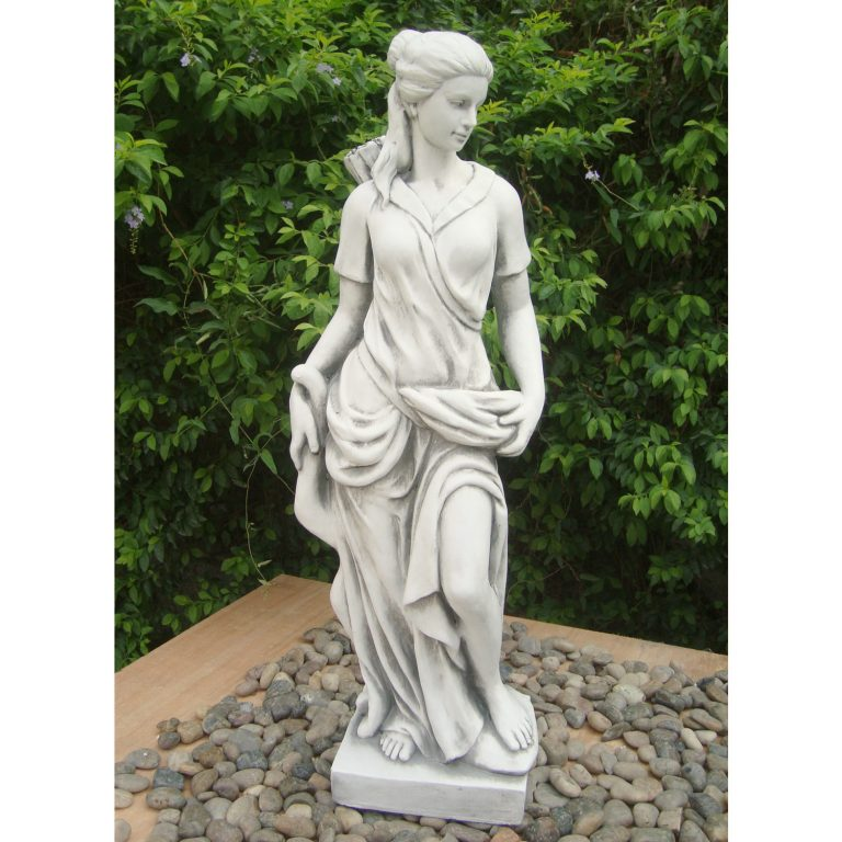 HEIDI HUNTER GIRL 85CM WHITE STONE EFFECT OUTDOOR