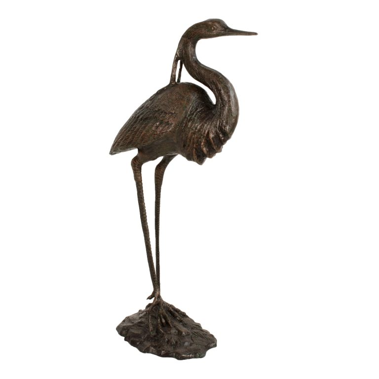 HERON 104CM ALUMINIUM DARK VERDIGRIS FRONT RIGHT