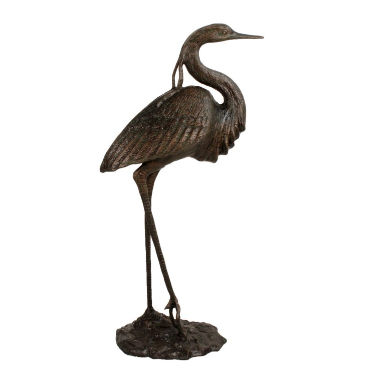 HERON 104CM ALUMINIUM DARK VERDIGRIS RIGHT