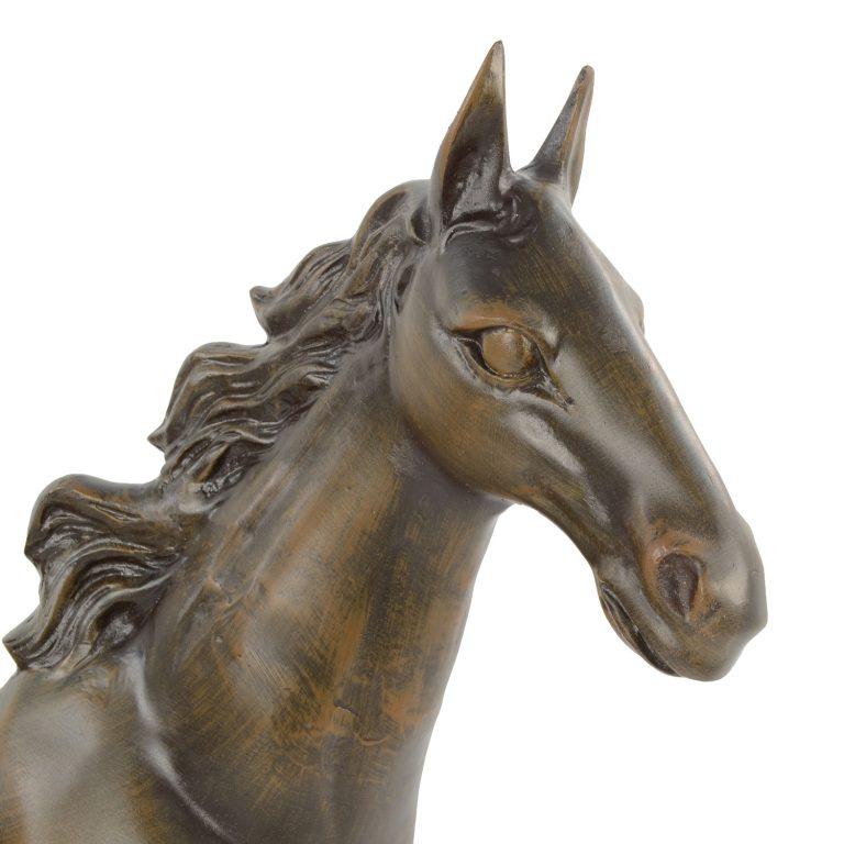 HORSE 105CM ALUMINIUM DARK BRONZE EFFECT DETAIL