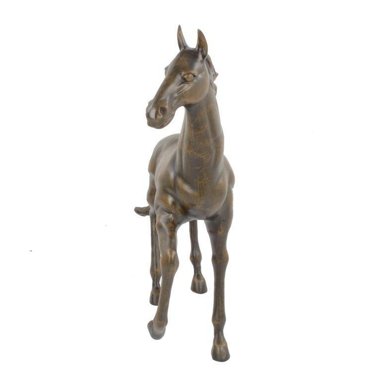 HORSE 105CM ALUMINIUM DARK BRONZE EFFECT FRONT