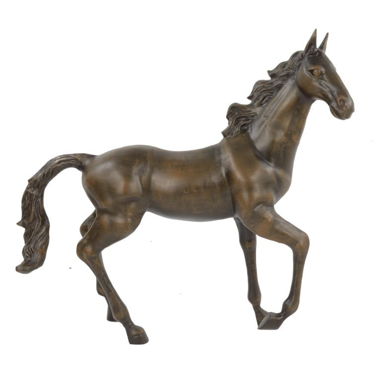 HORSE 105CM ALUMINIUM DARK BRONZE EFFECT RIGHT