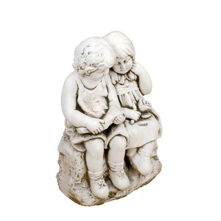 JACK JILL SITTING 56CM ANTIQUE STONE EFFECT FRONT RIGHT