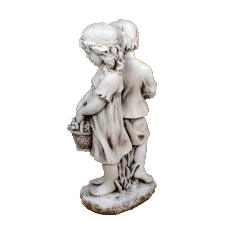 JACK JILL STANDING 89CM ANTIQUE STONE EFFECT BACK RIGHT