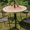 LANGLEY 100CM DINING TABLE OUTDOOR