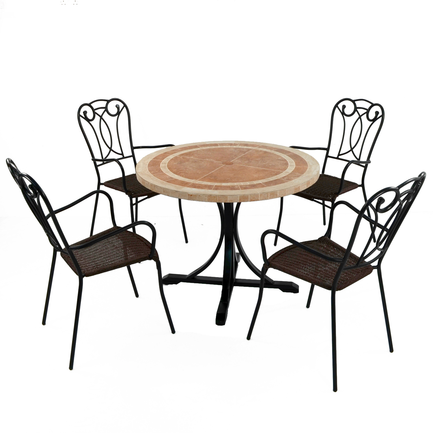 LANGLEY DINING TABLE WITH 4 VERONA CHAIR SET