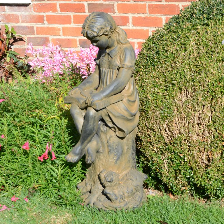 MARY READING GIRL 89CM RUST EFFECT OUTDOOR