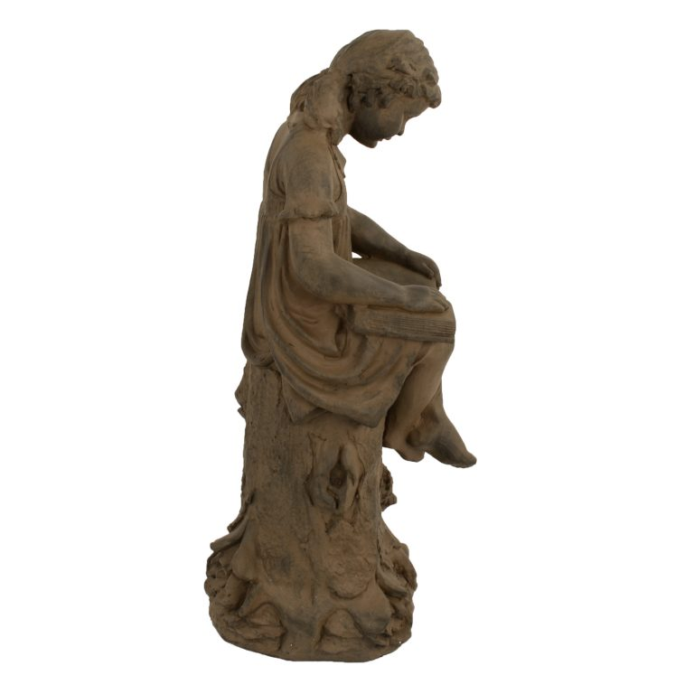 MARY READING GIRL 89CM RUST EFFECT RIGHT