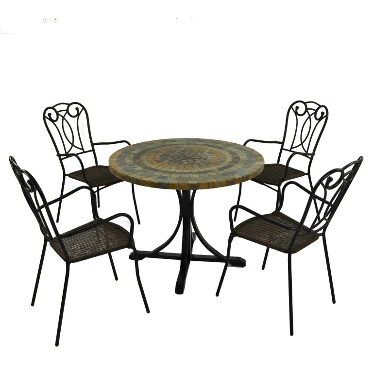 MONTEREY DINING TABLE WITH 4 VERONA CHAIR SET