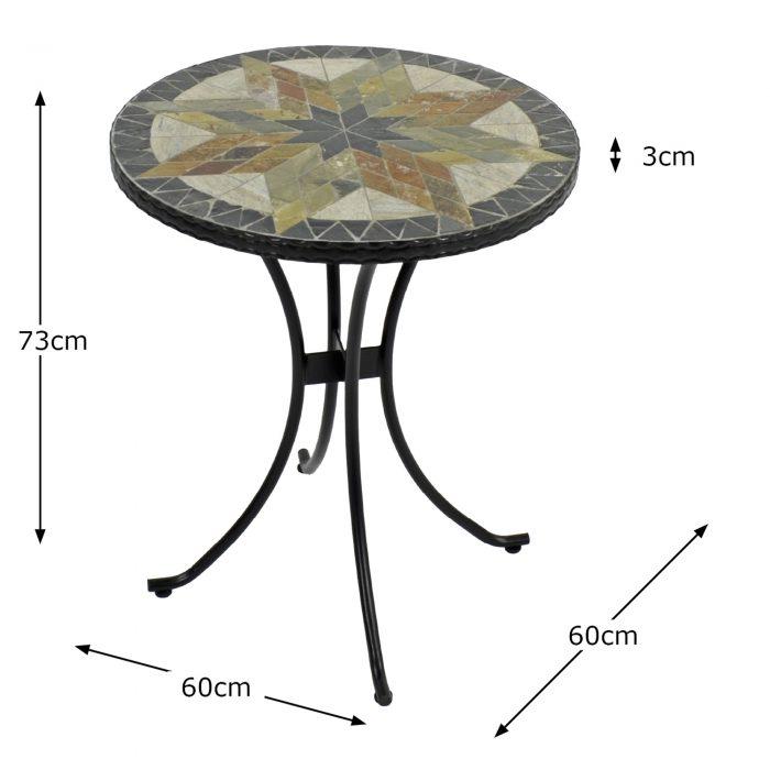 MONTILLA 60CM BISTRO TABLE DIMENSION MS1 1