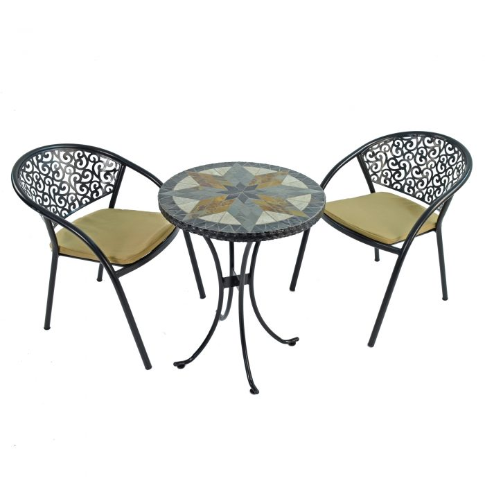 MONTILLA 60CM BISTRO WITH 2 FLORENCE CHAIRS SET WS1