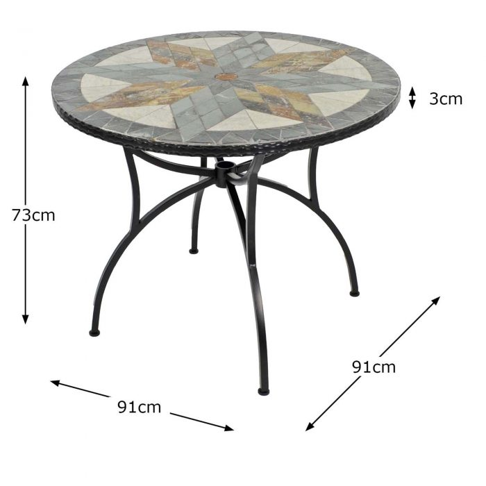 MONTILLA 91CM PATIO TABLE DIMENSION MS1