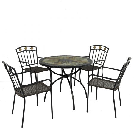 MONTILLA 91CM PATIO WITH 4 MALAGA CHAIR SET