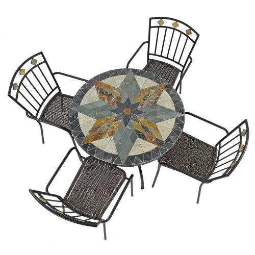 MONTILLA 91CM PATIO WITH 4 MALAGA CHAIRS SET WG2