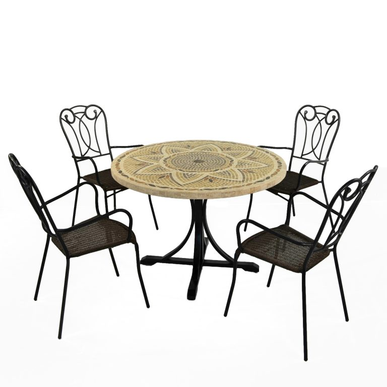 MONTPELLIER DINING TABLE WITH 4 VERONA CHAIR SET