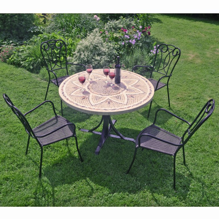 MONTPELLIER DINING TABLE WITH 4 VERONA CHAIR SET OUTDOOR