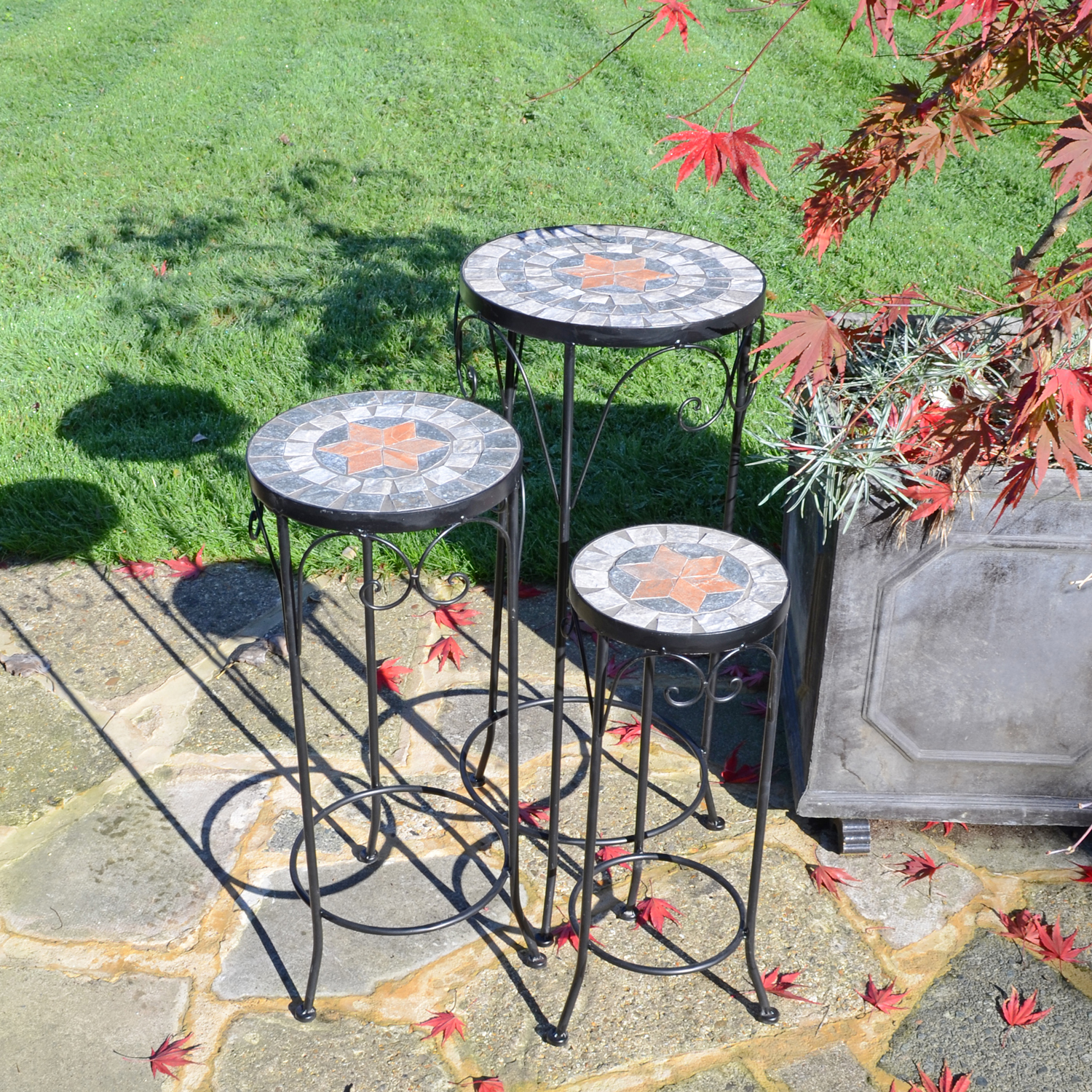 NOVA PLANTSTAND SET OF 3 TALL OUTDOOR