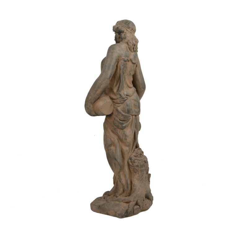 OLIVIA URN GIRL 79CM RUST EFFECT BACK LEFT