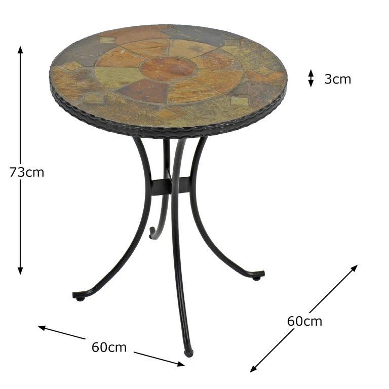 ONDARA 60CM BISTRO TABLE DIMENSION MS1