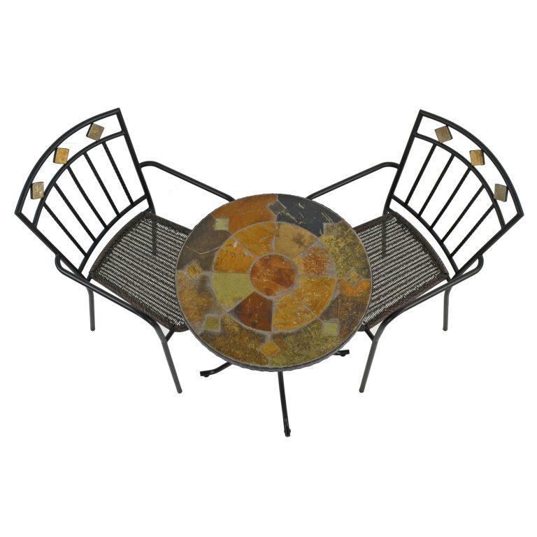 ONDARA 60CM BISTRO TABLE WITH 2 MALAGA CHAIR SET WG2