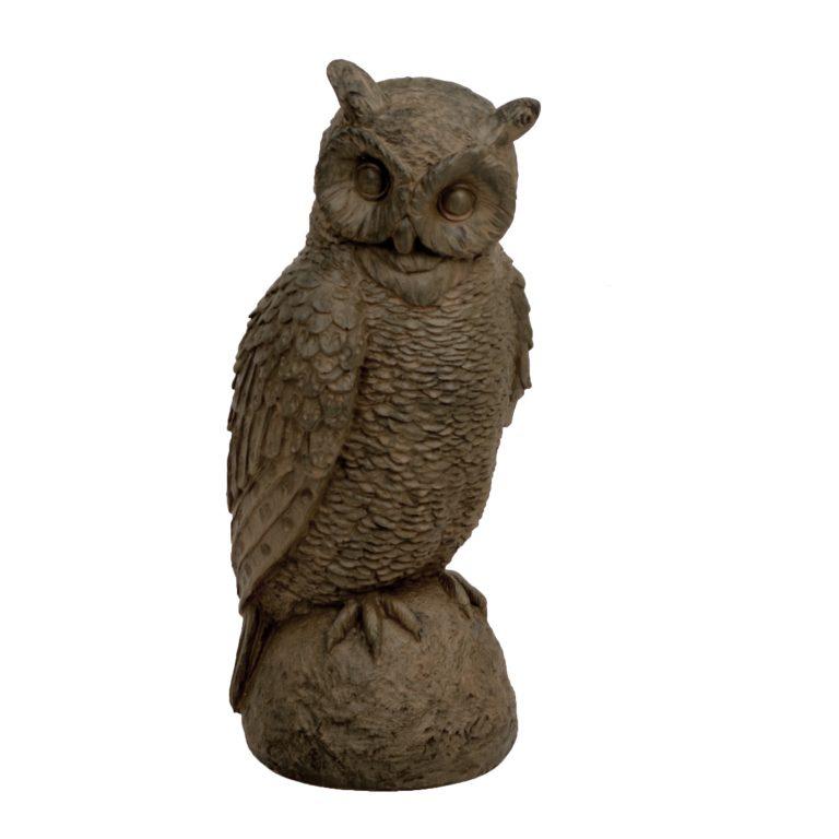 OWL 41CM RUST EFFECT FRONT