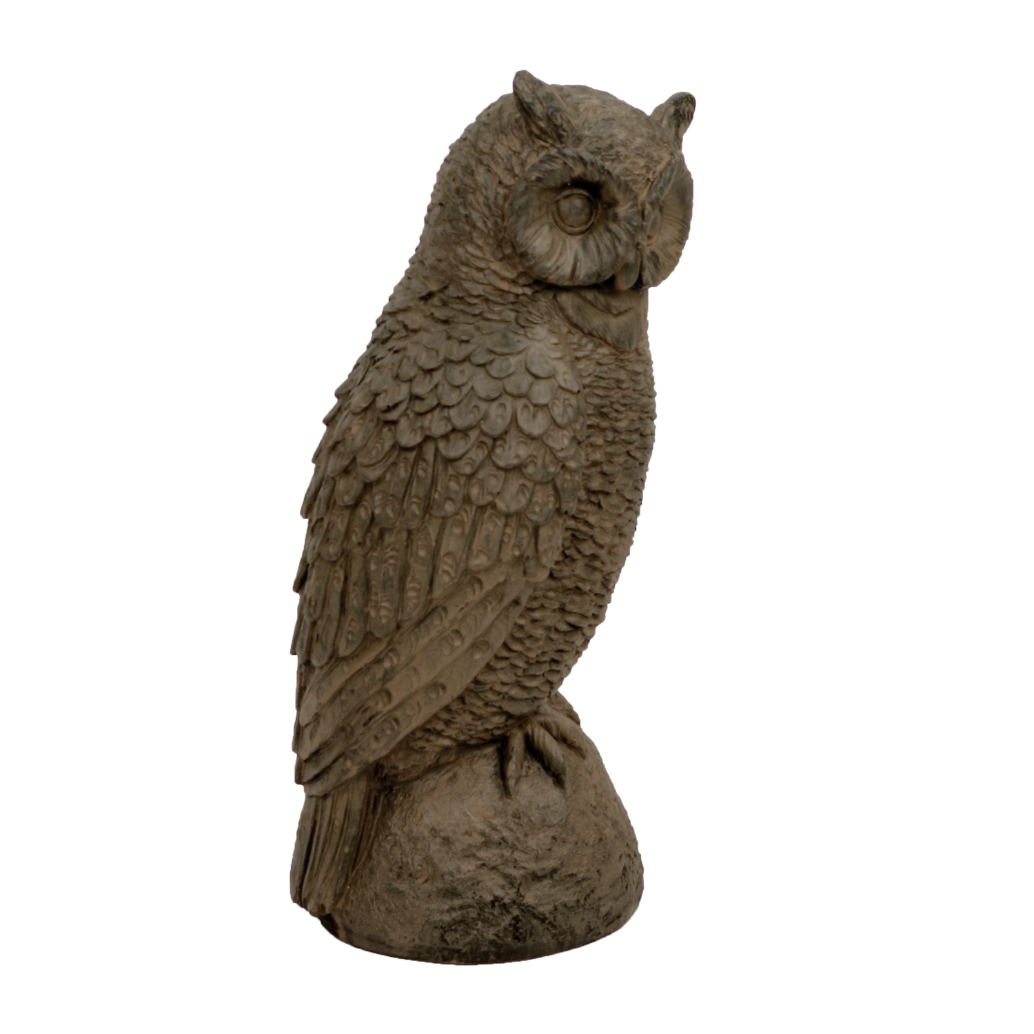 OWL 41CM RUST EFFECT FRONT RIGHT