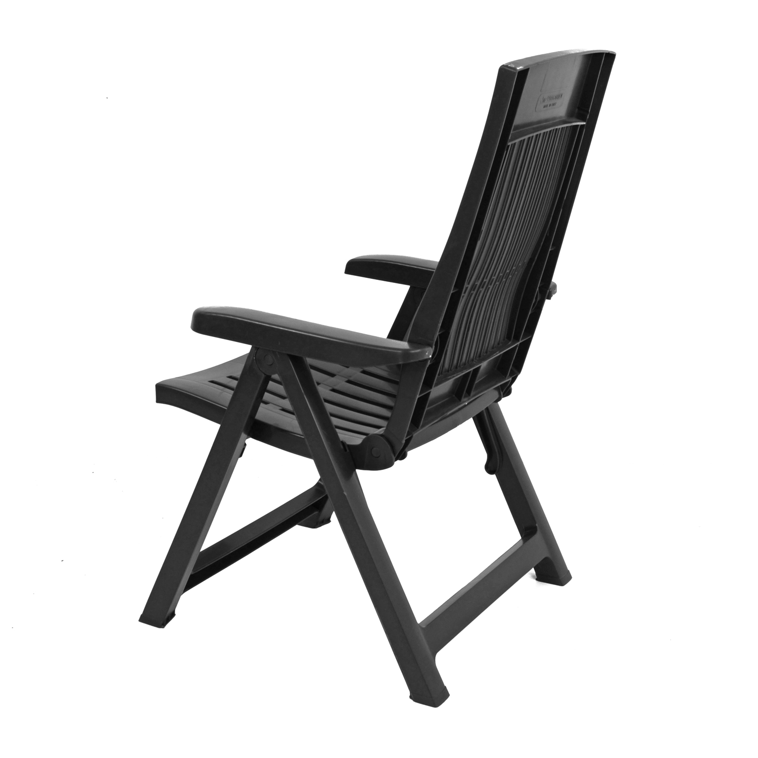 PALERMO RECLINER CHAIR ANTHRACITE BACK LEFT