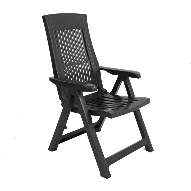 PALERMO RECLINER CHAIR ANTHRACITE FRONT RIGHT