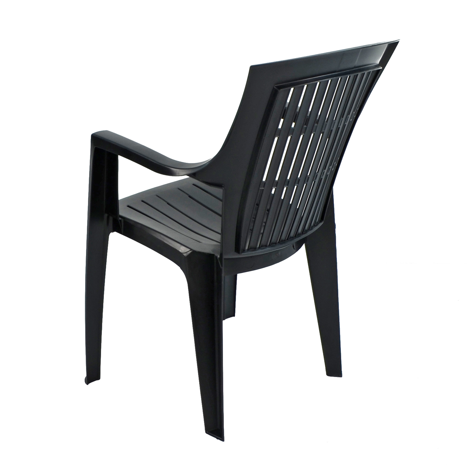 PARMA STACK CHAIR ANTHRACITE BACK LEFT