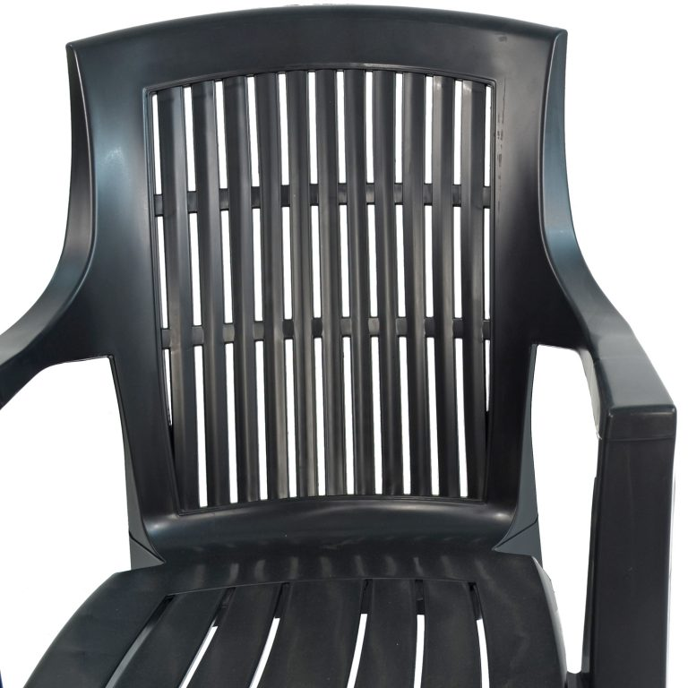 PARMA STACK CHAIR ANTHRACITE DETAIL