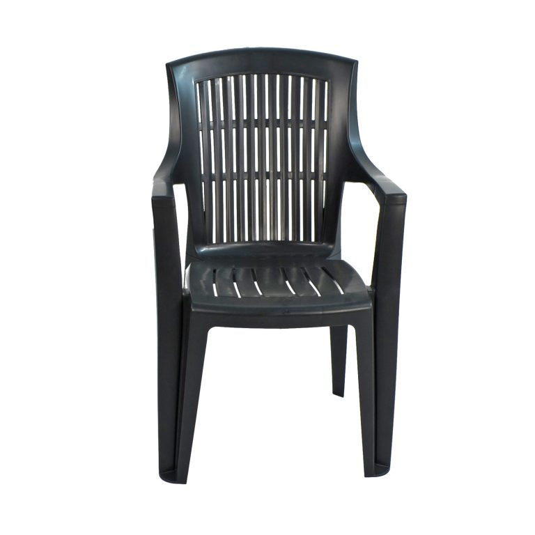 PARMA STACK CHAIR ANTHRACITE FRONT