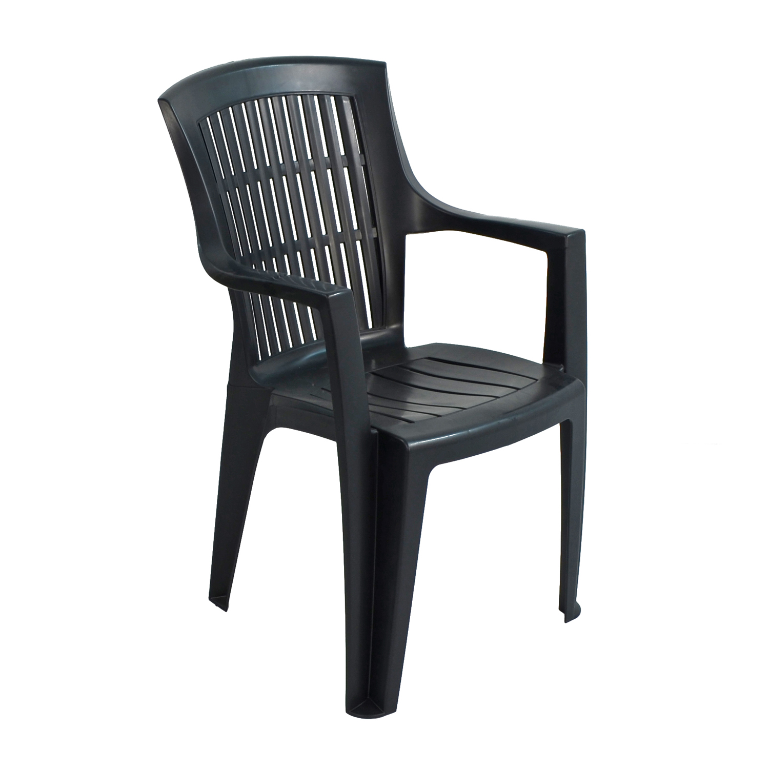 PARMA STACK CHAIR ANTHRACITE FRONT RIGHT