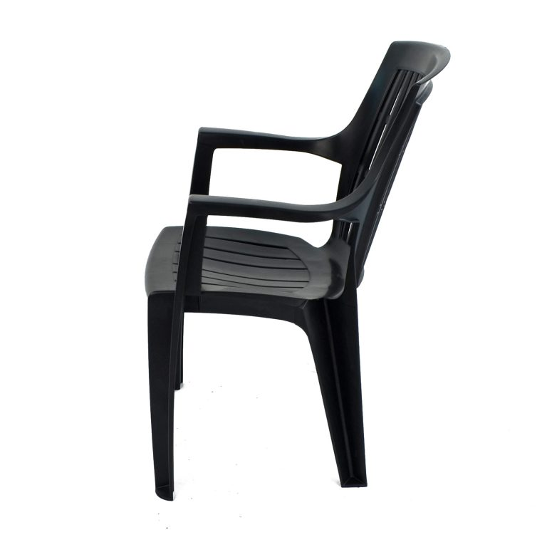 PARMA STACK CHAIR ANTHRACITE LEFT
