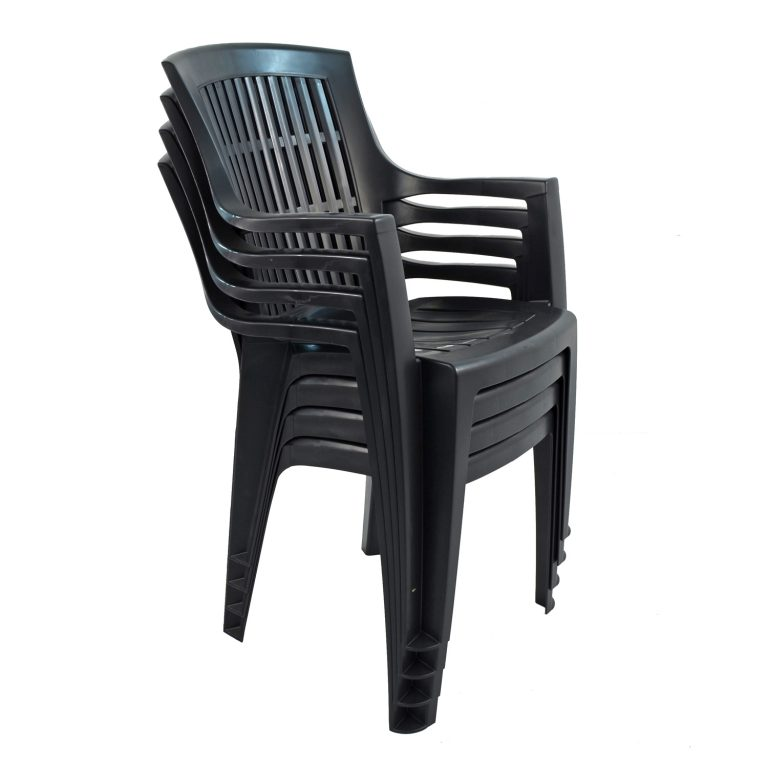 PARMA STACK CHAIR ANTHRACITE PACK OF 4
