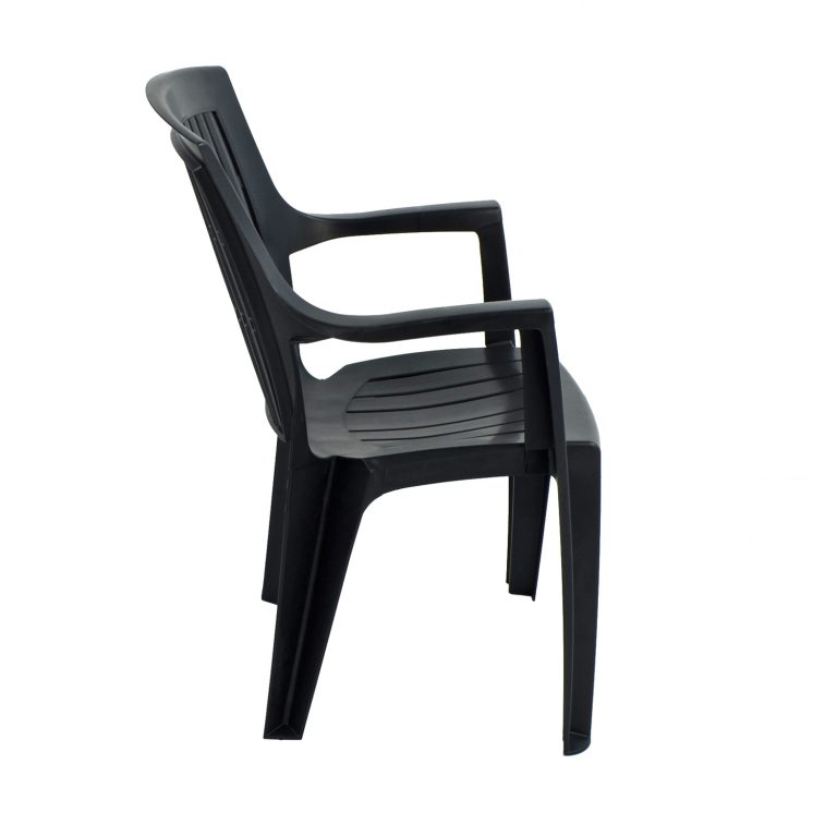 PARMA STACK CHAIR ANTHRACITE RIGHT