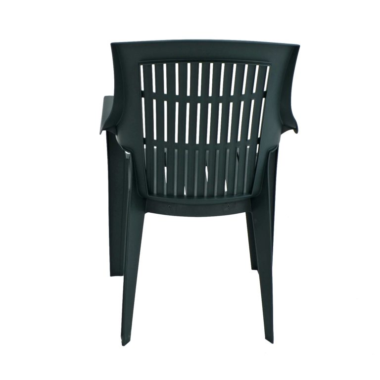 PARMA STACK CHAIR GREEN BACK