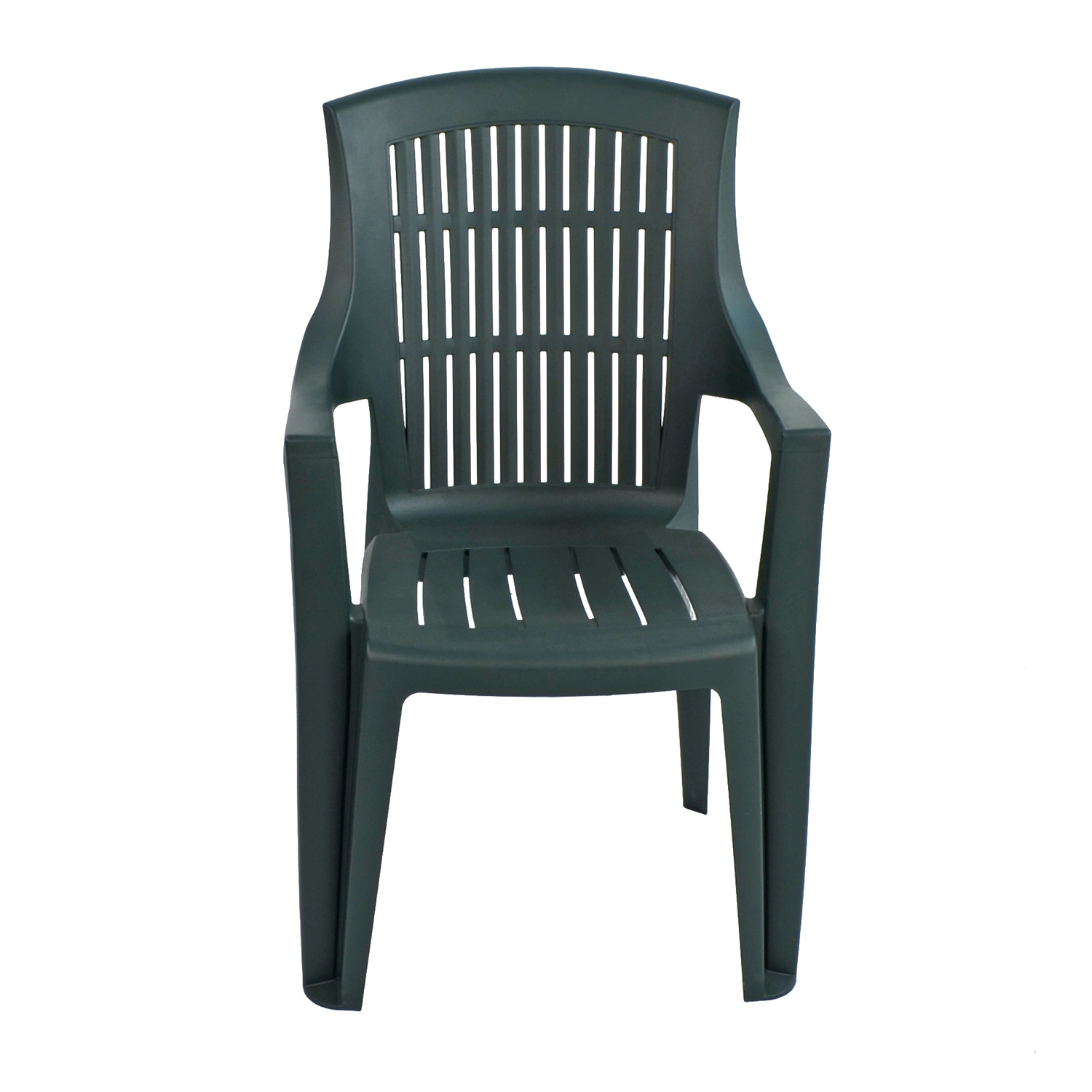 PARMA STACK CHAIR GREEN FRONT