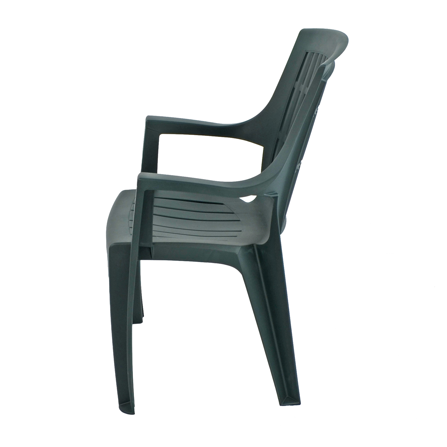 PARMA STACK CHAIR GREEN LEFT