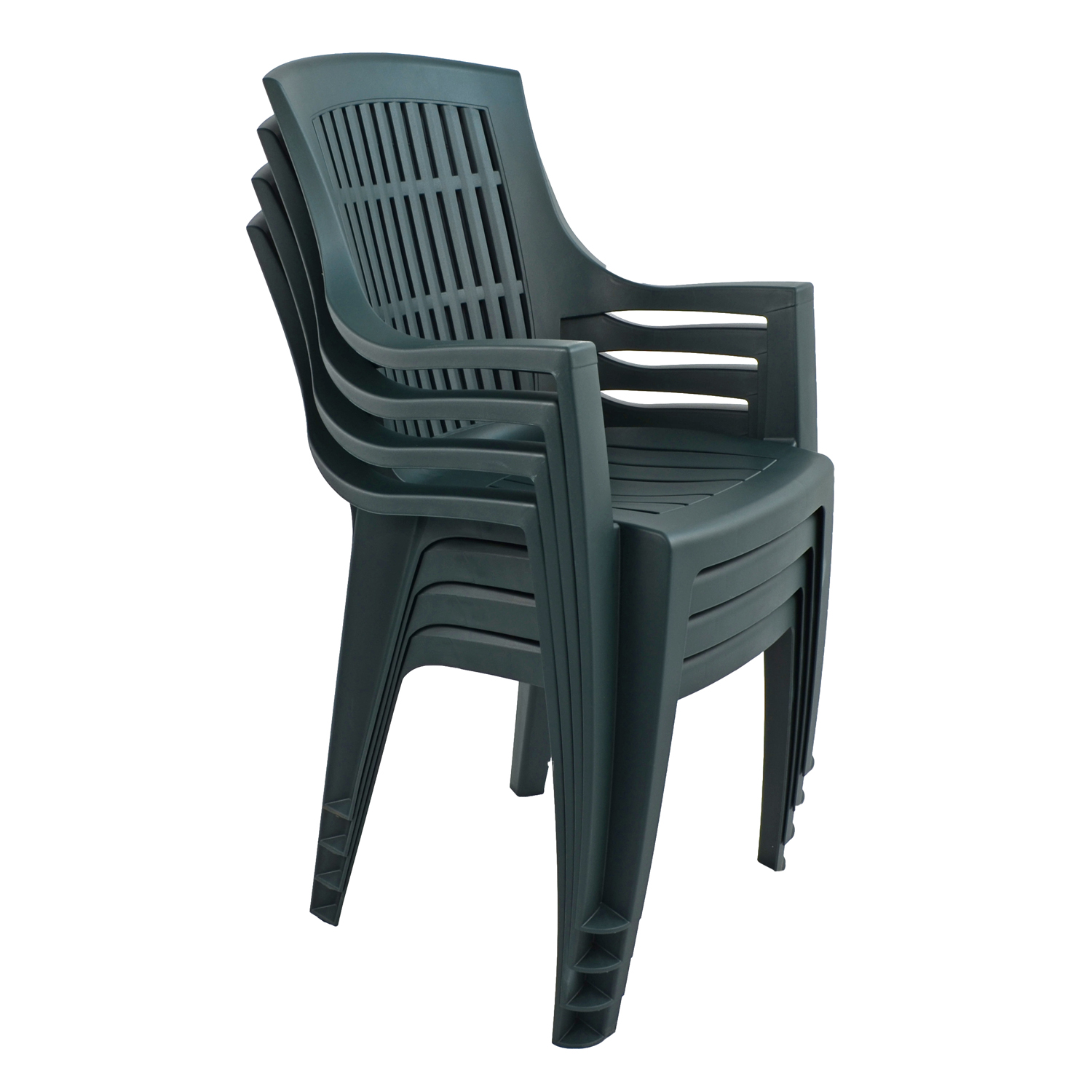 PARMA STACK CHAIR GREEN PACK OF 4