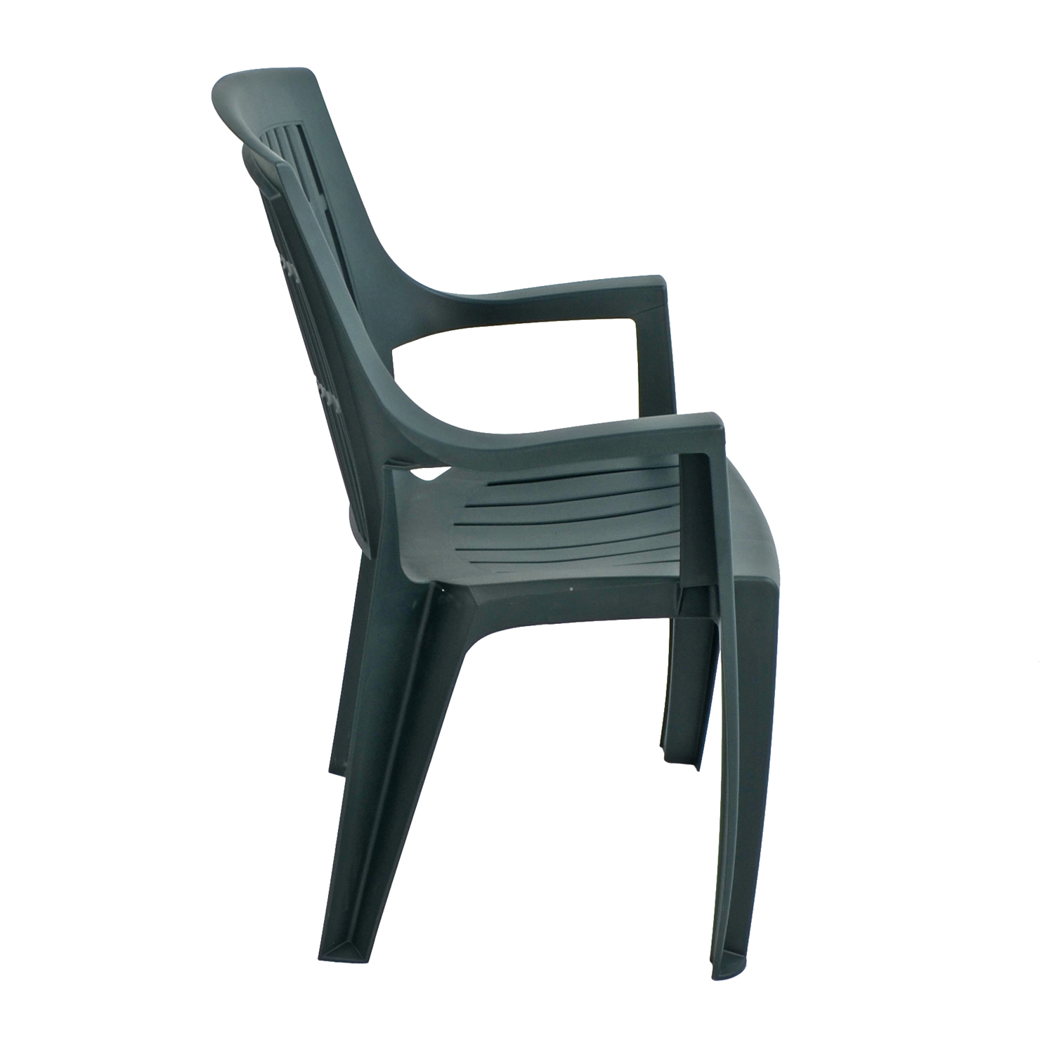 PARMA STACK CHAIR GREEN RIGHT