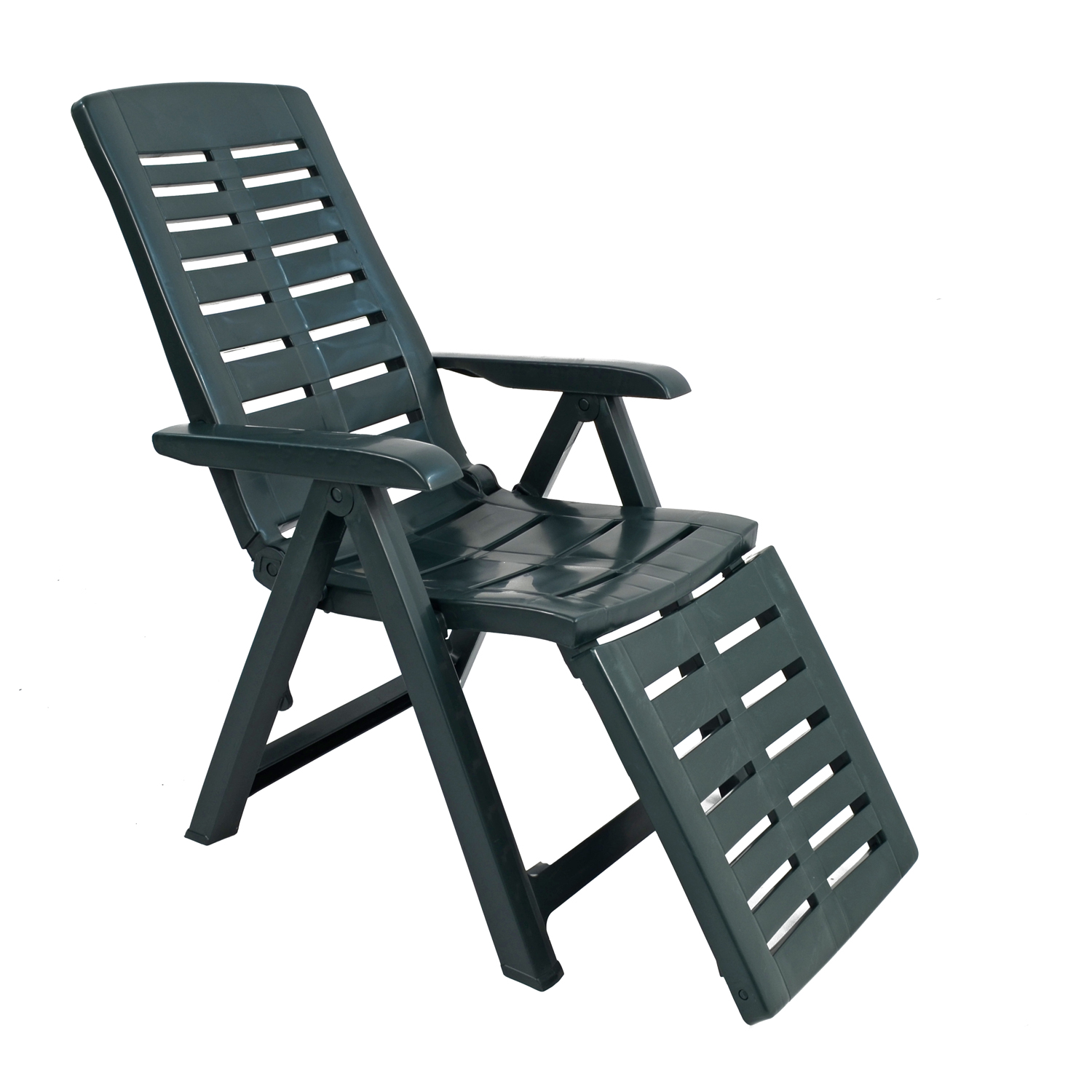 PESARO RECLINER CHAIR WITH FOOTREST GREEN FRONT RIGHT 2