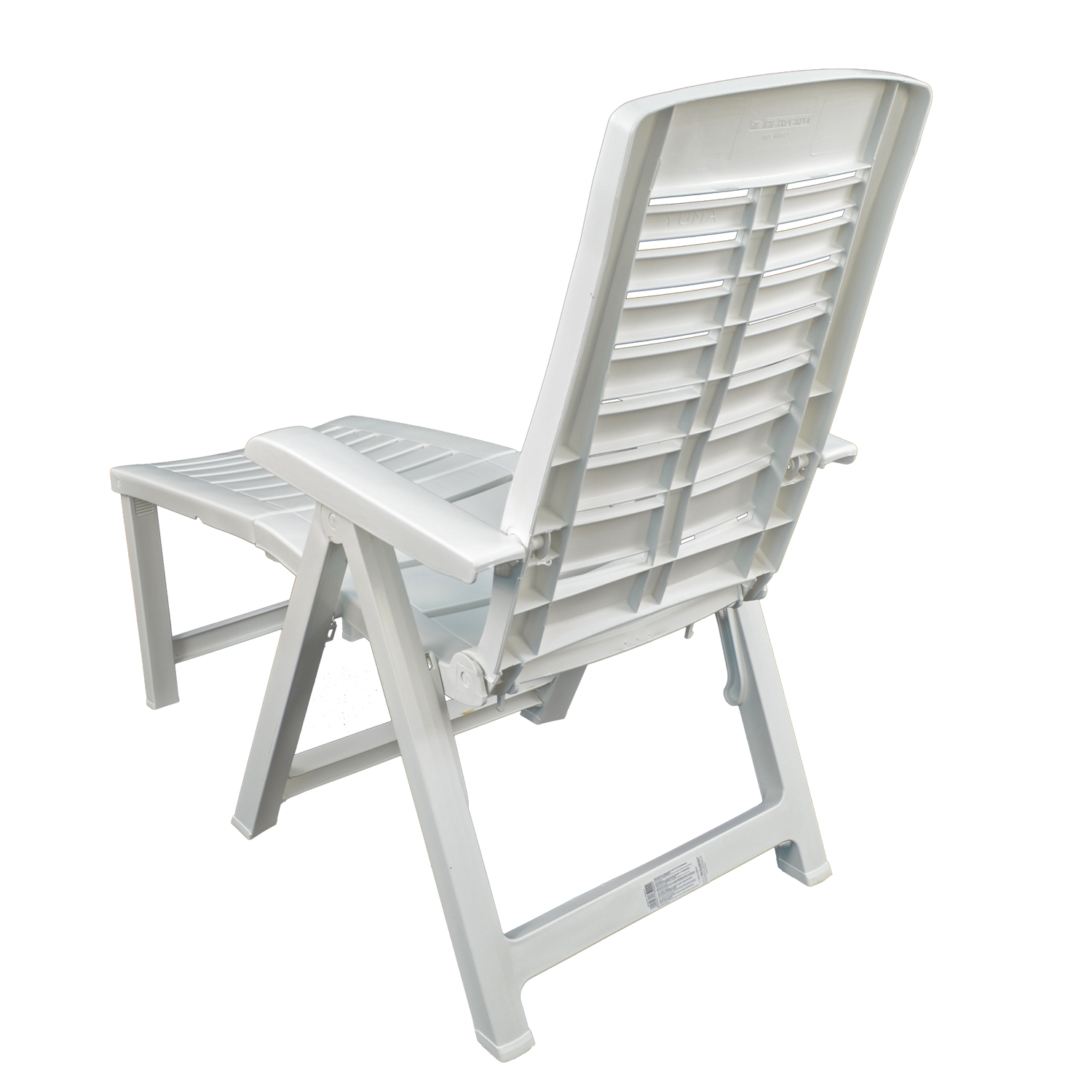 PESARO RECLINER CHAIR WITH FOOTREST WHITE BACK LEFT