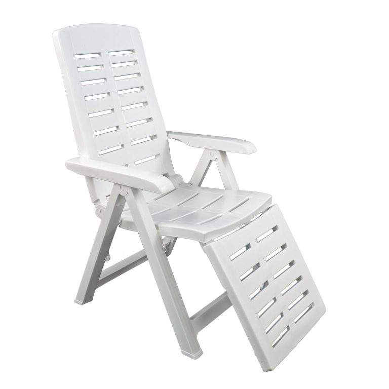 PESARO RECLINER CHAIR WITH FOOTREST WHITE FRONT RIGHT 2