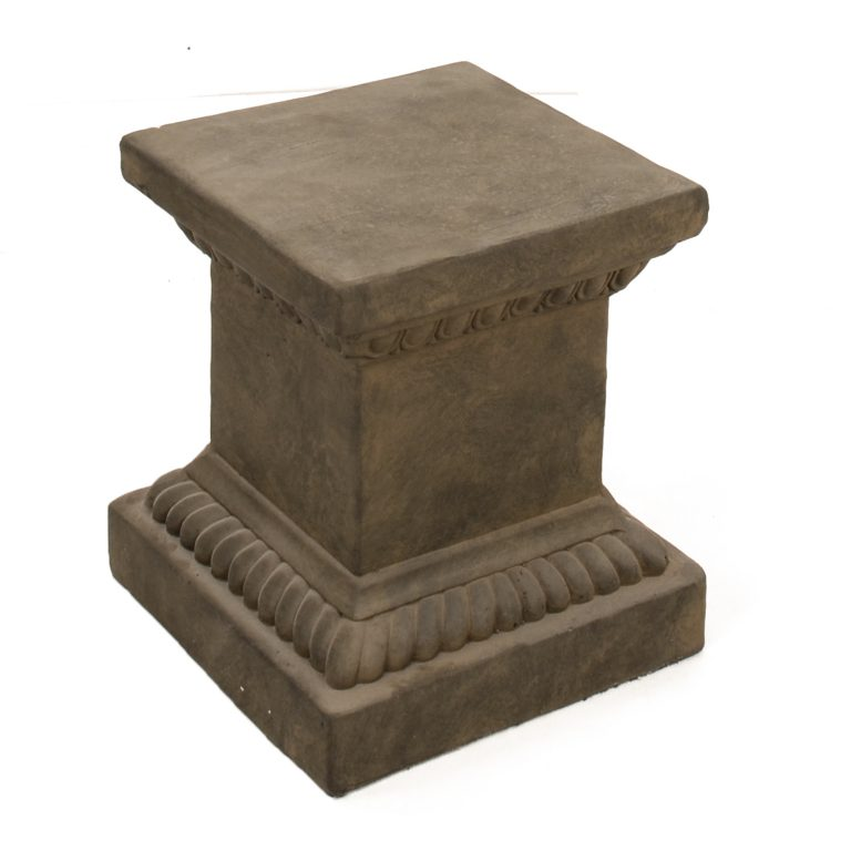 PLINTH SQUARE LOW 36CM RUST EFFECT FRONT RIGHT2
